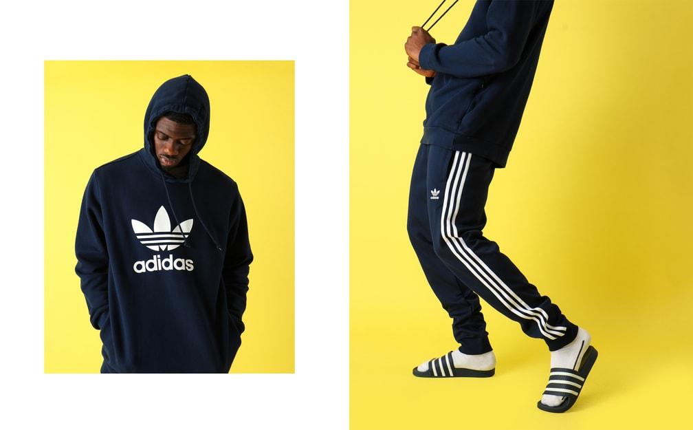 Adidas donkerblauw
